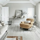 Whitewashed living room