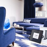 Cool blue living room