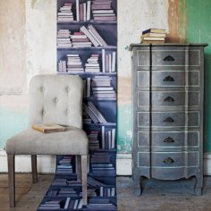 Wallpaper Vintage bookshelf from Graham and Green