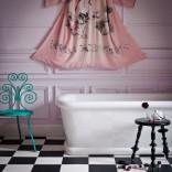 Glamorous pink bathroom