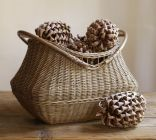 JACQUELYNE WOOD HANDLED BASKET, 481 SEK, 52 EUR, 69 USD, Pottery Barn.