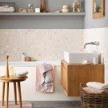 Calm bathroom with muted tones