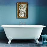 Blue minimalist bathroom