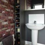 Wallpaper effect bathroom