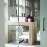 Modern mirrored bathroom