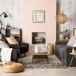 Weathered wood living room