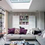 Open-plan luxurious living room