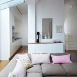White streamlined living room