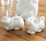 BUNNY SUGAR BOWL & CREAMER, 263 SEK, 30 EUR, 39 USD from Pottery Barn