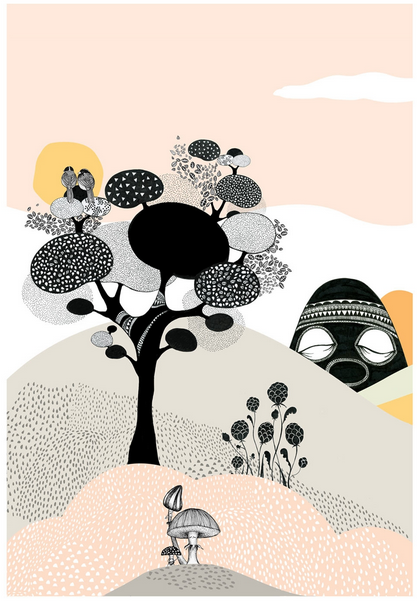 Talking Tree poster 220 SEK, 24 EUR, 32 USD Mini Empire